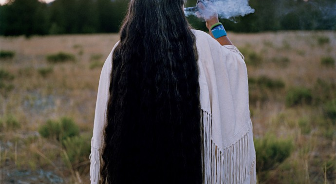 "Caleen Sisk is the spiritual leader and the tribal chief of the Winnemem Wintu tribe ""and a last speaker of the language that sustains her people'€™s identity.€© Lynn Johnson/National Geographic"
