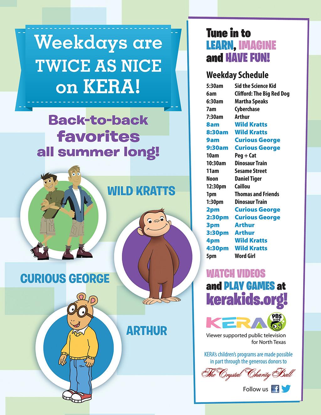 KERA Summer 2014 Kids Television Schedule