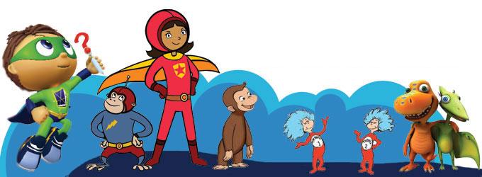KERA Kids characters